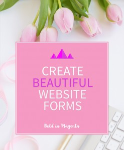 Create beatiful website forms